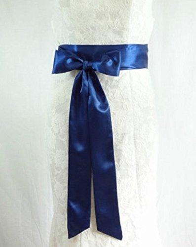 Unbekannt Brautgürtel Taillenband Damen Gürtel Abendkleidgürtel Weiß Ivory Creme Rot Schwarz Lila Altrosa Navy Blue Damengürtel Satinband Satin Band (Creme) - 6