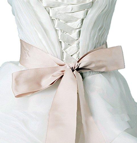 Nanxson(TM) Damen Frauen Vintage Extra lange DIY-Stil schmale Satin Braut Taillenband Gürtel PDW0092 - 2
