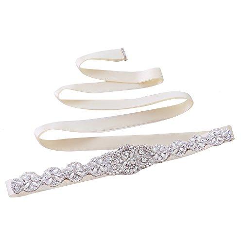 Hochzeit Glitzergürtel für Brautkleid (Elfenbein)