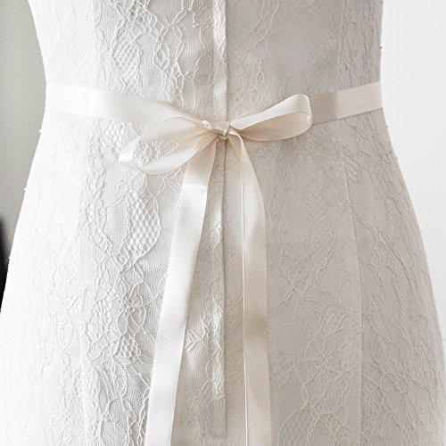 TOPQUEEN Strass des femmes ceinture ceintures ceintures Bridal Sash de mariage pour mariage (Elfenbein) - 6