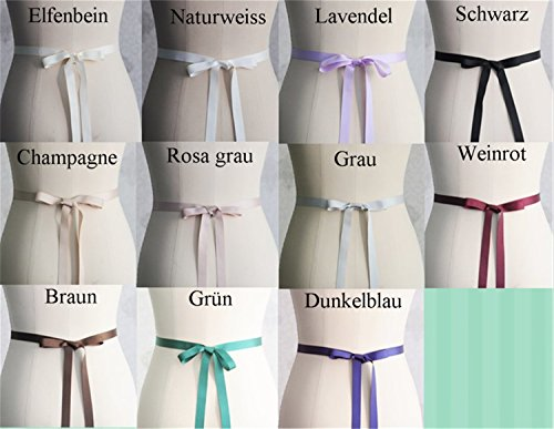 ULAPAN Strass Hochzeit Gürtel,Perlen Braut Gürtel,Strass Braut Schärpe Perlen Hochzeit Sash (Schwarz) - 4
