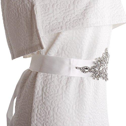 Braut Hochzeitskleid Gürtel Schärpe Kristall Strass Funkeln Band Binden - Weiß - 4