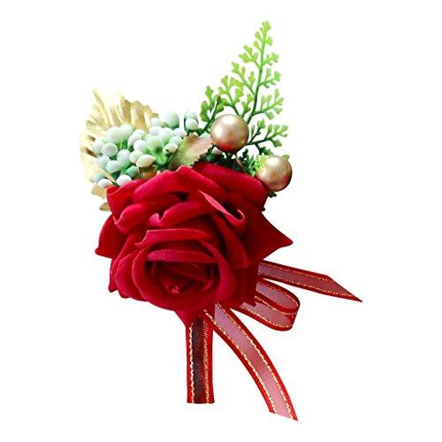 Künstliche Rose Anstecknadel Boutonniere - 14 x 9 x 6 cm