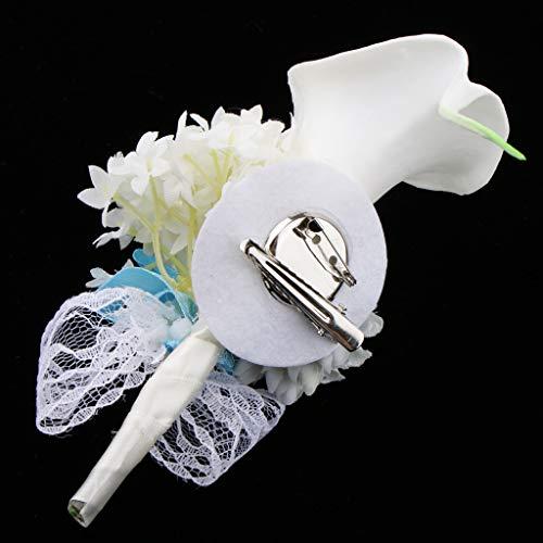 Baoblaze Rosen Hochzeitsanstecker Gästeanstecker Ansteckblume Handgelenk für Hochzeit Party und Bankett - Grau - 6