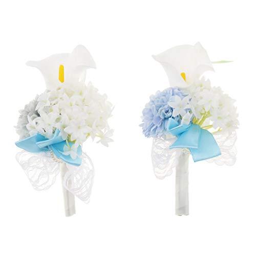 Baoblaze Rosen Hochzeitsanstecker Gästeanstecker Ansteckblume Handgelenk für Hochzeit Party und Bankett - Grau - 8