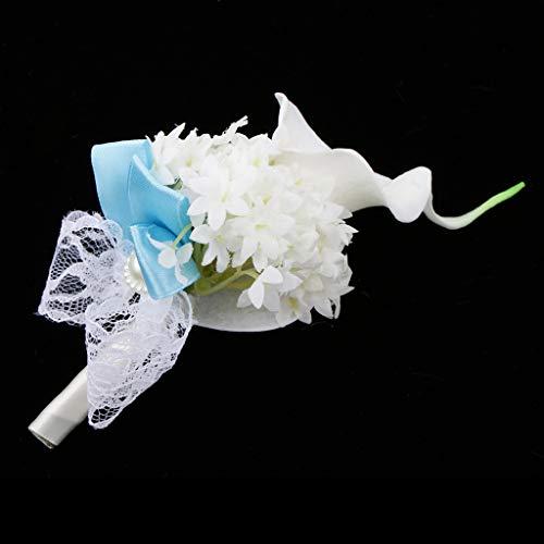Baoblaze Rosen Hochzeitsanstecker Gästeanstecker Ansteckblume Handgelenk für Hochzeit Party und Bankett - Grau - 9