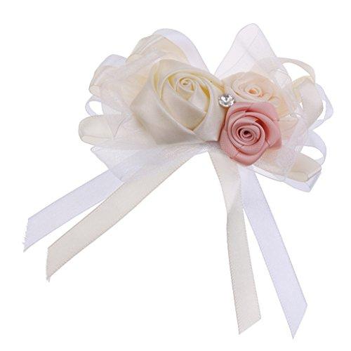 Blumen Anstecker, Anstecknadel Boutonniere - Creme
