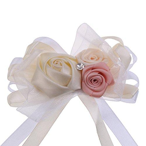 MagiDeal Rhinestone Blumen Anstecker Gästeanstecker Hochzeitsanstecker Anstecknadel Boutonniere - Creme, wie beschrieben - 3