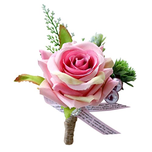 Romantische Hochzeitsanstecker, Rose, 13 x 10 x 6 cm