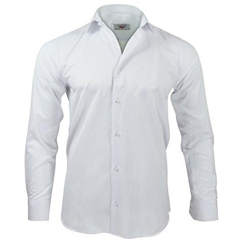 Captain Slim Fit Herren Hemden, 100% Baumwolle