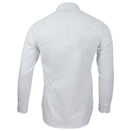 Captain Slim Fit Herren Hemden (in 24 Langarm-Hemd 100% Baumwolle (XL, Weiß) - 2