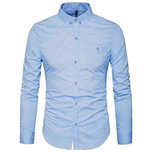 AIYINO Herren Hemd, Baumwolle, 6 Farben zur Auswahl
