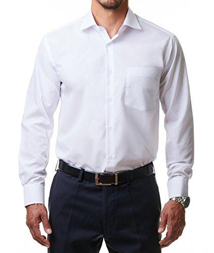 Alessandro Tonelli Herren Klassik Hemd, Weiß