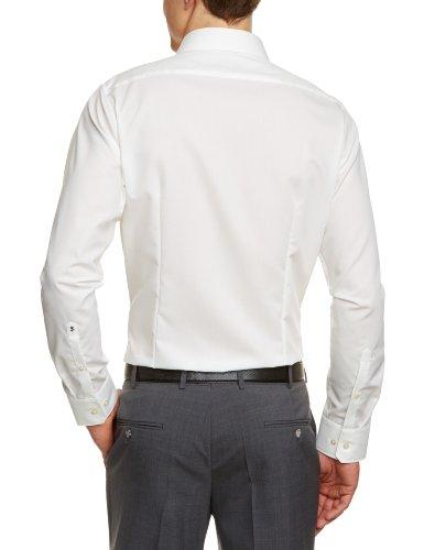 Seidensticker Herren Business Hemd Tailored Langarm Kent-Kragen Bügelfrei, Beige (Ecru 21), Small (Herstellergröße: 37) - 2