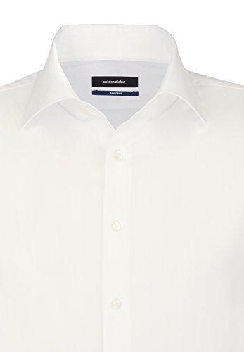 Seidensticker Herren Business Hemd Tailored Langarm Kent-Kragen Bügelfrei, Beige (Ecru 21), Small (Herstellergröße: 37) - 4