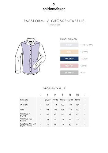 Seidensticker Herren Business Hemd Tailored Langarm Kent-Kragen Bügelfrei, Beige (Ecru 21), Small (Herstellergröße: 37) - 5