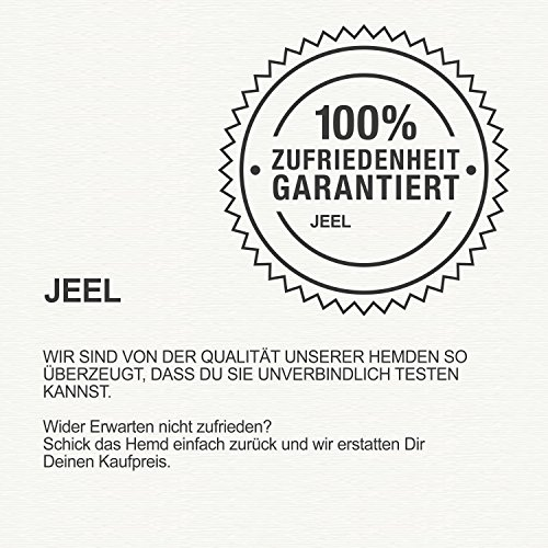 Jeel Herren-Hemd – Slim-Fit – Bügelleicht – Business, Hochzeit, Freizeit – Kurzarm-Hemd für Männer 205 Schwarz L - 4