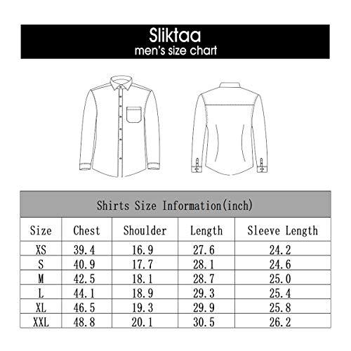 Hemd Herren Stehkragen Slim Fit Langarm Business Hochzeit Formale Shirt Smoking Baumwolle - 5