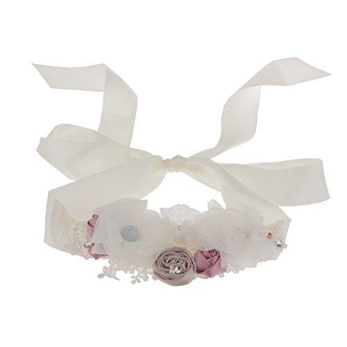 Brautgürtel mit Strass, Perlen, Blumen