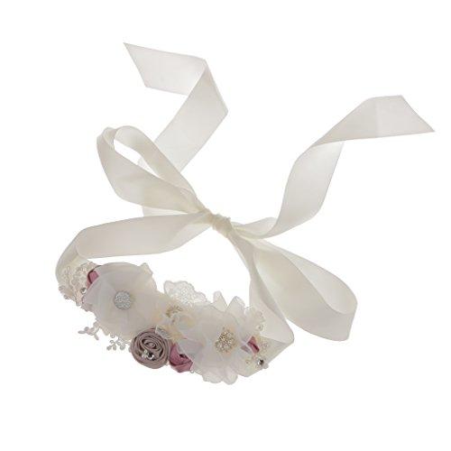 Brautkleid Diamante Strass Perlen Blumen Schärpe Gurt Zubehör -
