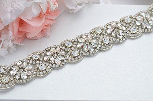 Hochzeit Braut-Gürtel, Crystal Strass aus weißen Perlen RA219