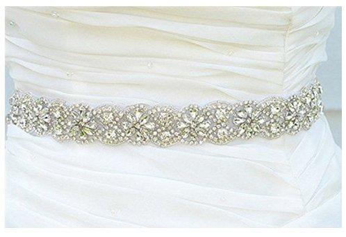 Hochzeit Gürtel Applique Braut-Gürtel, Schärpe, Gürtel Applikationen, Crystal Strass aus weißen Perlen RA219 -