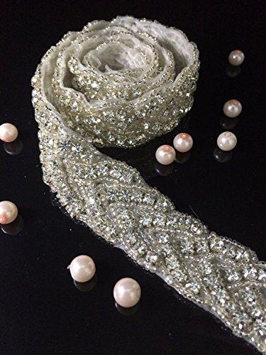 Hochzeitsgürtel Crystal Strass aus weißen Perlen RA027