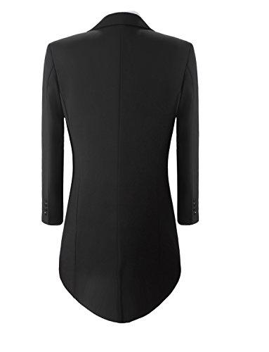 Lilis® Premium Herren Tail Tuxedo 3pc Frack Anzug in Grau Schwarz Anzugjacke, Weste, Anzughose - 3