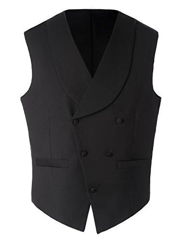 Lilis® Premium Herren Tail Tuxedo 3pc Frack Anzug in Grau Schwarz Anzugjacke, Weste, Anzughose - 4