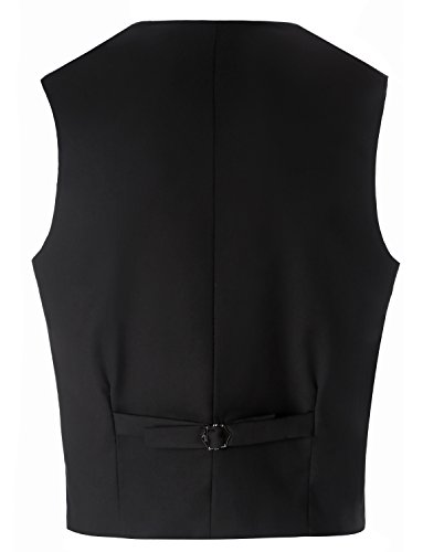Lilis® Premium Herren Tail Tuxedo 3pc Frack Anzug in Grau Schwarz Anzugjacke, Weste, Anzughose - 5