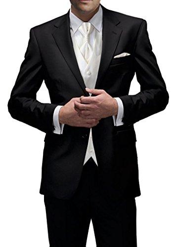 Hochzeitsanzug 8-tlg Set schwarz, slim fit