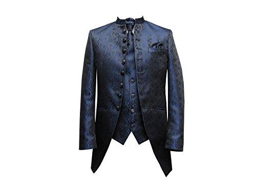 MUGA Hochzeit Anzug Cutaway 5-teilig Jacquard