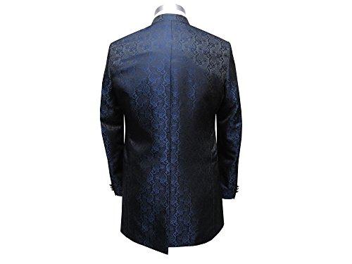 MUGA Hochzeit Anzug Cutaway 5-teilig Jacquard Dunkelblau 52 - 2