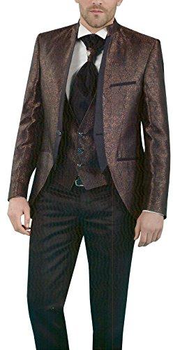 MUGA Hochzeit Anzug Gehrock-Cutaway Style 4-teilig - 3