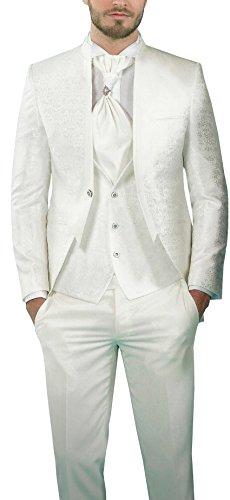MUGA Hochzeit Anzug Gehrock-Cutaway Style 4-teilig - 4