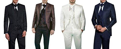 MUGA Hochzeit Anzug Gehrock-Cutaway Style 4-teilig - 5