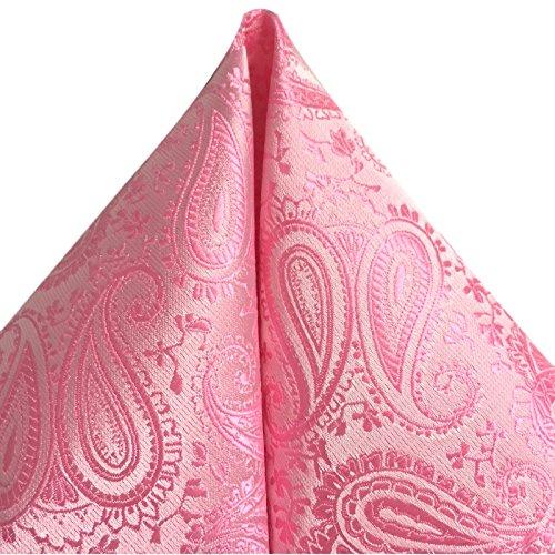 3- SET Krawatte & Einstecktuch Manschettenknöpfe rosa BINDER Schmale KRAVATTE zum ANZUG VERLOBUNG HOCHZEIT HERREN SCHLIPS Hochzeitskrawatte -