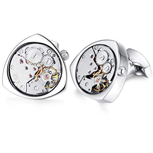 1 Paar Herren Manschettenknöpfe Steampunk (Silber)