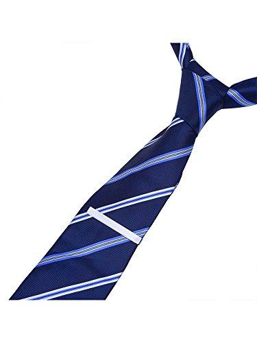 3 Stück Herren Krawatten Bar Clips Krawattennadel Krawattennadel Krawattenklammer Tie,Silber,Schwarz und Golden - 2