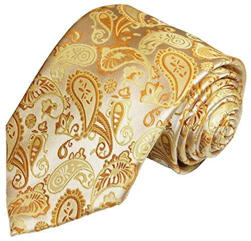 Hochzeitskrawatte von Paul Malone creme gold paisley