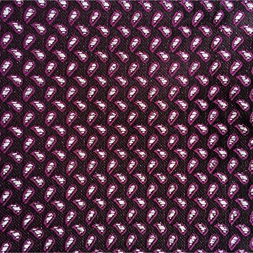 3- SET Plastron Krawatte & Einstecktuch Violett Schwarz Silber Punkte fertig gebunden SEIDEN-OPTIK MICROFASER BINDER Breite violette KRAVATTE zum ANZUG VERLOBUNG HOCHZEIT Hochzeitskrawatte -