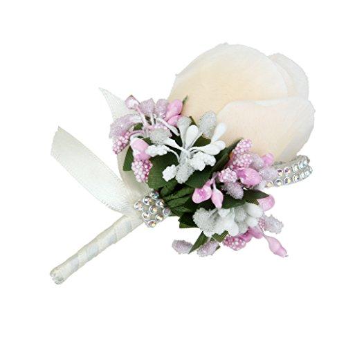 Rose Anstecker Hochzeit Gästeanstecker Hochzeitsanstecker Anstecknadel - Beige - 3