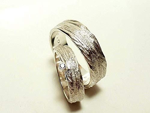 Eheringe Silber und Zirkonia mit breitem Herrenring - handgefertigt by SILVERLOUNGE - 2