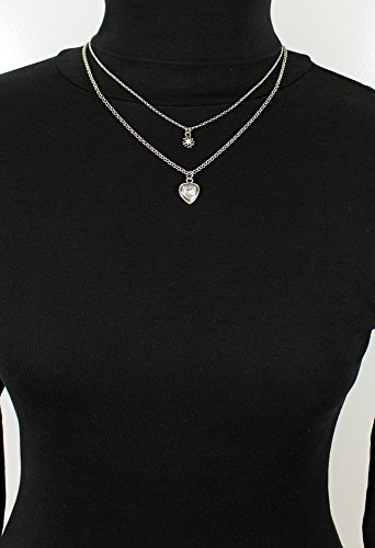 LUISIA Doppelhalskette mit Edelweiß und Herz - Silber - Zauberhafter Trachten Dirndl Schmuck - 5