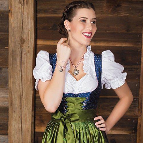 Alpenflüstern Trachten-Wickelarmband Edelweiß - Damen-Trachtenschmuck, Trachtenarmband, Kordel-Armband rosé-rosa DAB026 - 2