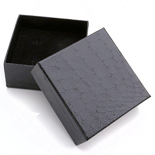 PiercingJ 3pc Edelstahl Herren Krawattennadel + manschettenknöpfe Set Klassisch Business Hochzeit Krawattenklammer Manschettenknopf mit 1x Geschenk-Box (#25) -