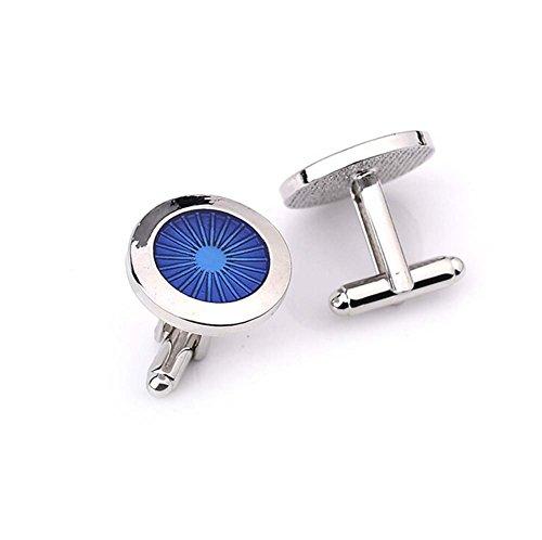 Hosaire 1 Paar Manschettenknöpfe Hemd Cufflinks Mode Blau Auge Form Hochzeit Manschettenknopf Exquisite Zubehör -