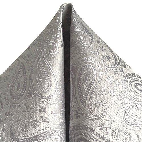 3- SET Krawatte & Einstecktuch Manschettenknöpfe Silber Grau BINDER Schmale KRAVATTE zum ANZUG VERLOBUNG HOCHZEIT HERREN SCHLIPS Hochzeitskrawatte -