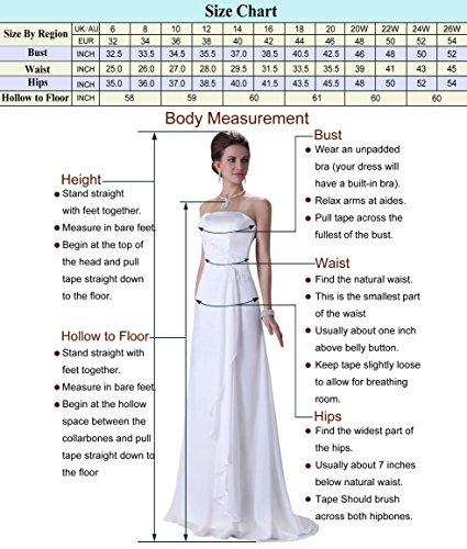 Lange Damen Abendkleider Ballkleider Partykleider Ärmellos Chiffon Kleid für Hochzeit Brautjungfer- Gr. 48, Cl7555-4 - 3