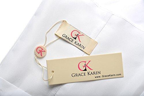 Lange Damen Abendkleider Ballkleider Partykleider Ärmellos Chiffon Kleid für Hochzeit Brautjungfer- Gr. 48, Cl7555-4 - 6